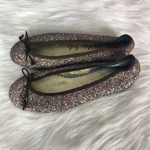 French London Sole Glitter Henrietta Ballet Flats